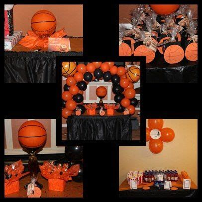 Basketball Themed Birthday Decorations by Centerpieces Basketball And On