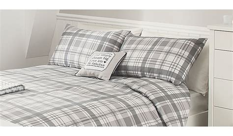 Check Duvet Set george home grey check duvet set bedding george at asda