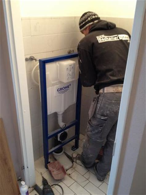 zwevend toilet afvoer plaatsen hangend toilet werkspot