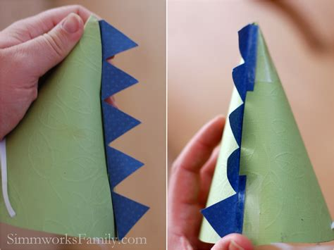 How To Make A Dinosaur Hat Out Of Paper - dinosaur hats how to simmworks family