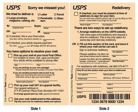 usps deliver i redesigned the usps package delivery slip the startup