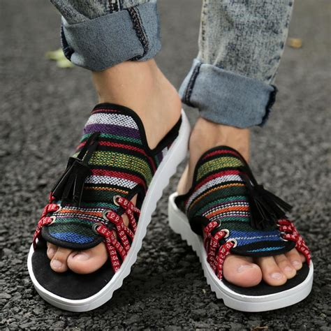 Sandal Pria Sandal Casual Pria Sandal Distro Gareu Rdg 3067 korean sandals open toe casual mixed color shoes style cut outs shoes