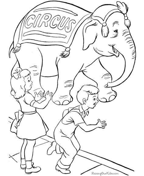 free coloring pages of carnival circus