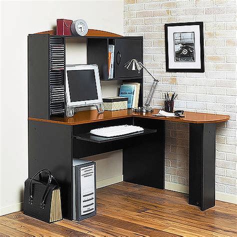 mainstays l shaped desk with hutch multiple finishes mainstays l shaped desk best home design 2018