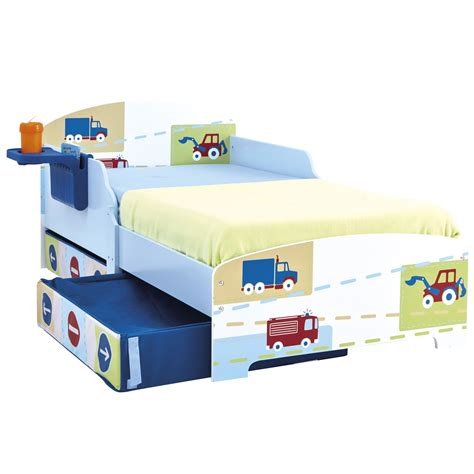 toddler bed with storage character disney junior toddler beds with storage