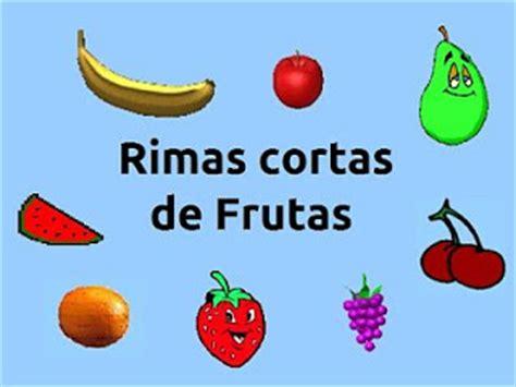 rimas con frutas rimas cortas de frutas rimas para ni 241 os