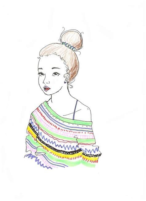 doodle hair bun doodle drawing hair bun image 430428