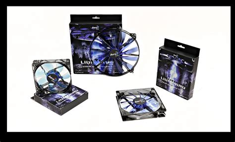 Aerocool Lightning 14cm Blue Led Fan aerocool lightning led fan 140x140x25mm 1200 10rpm 48cfm 4713105951400 techbuy australia