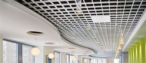 open grid ceiling metalworks open cell commercial interiors