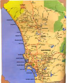 san diego california map