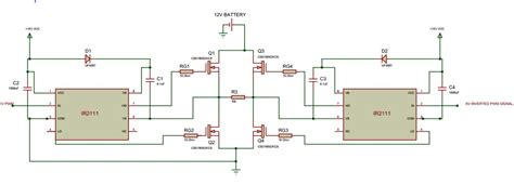transistor mosfet driver two ir2111 drivers for h bridge