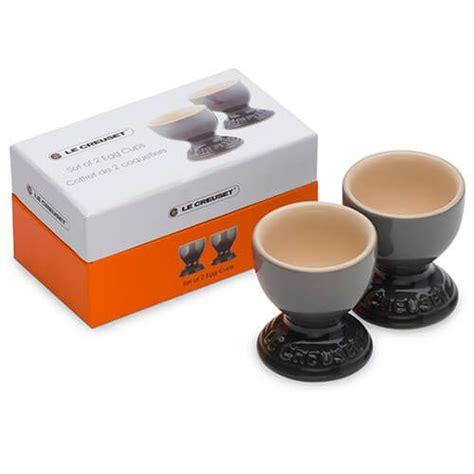 le creuset flint stoneware egg cup set   harts  stur