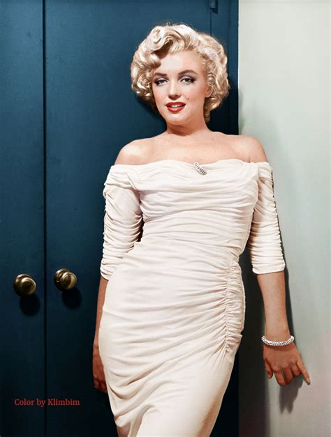 marilyn monroe in color old hollywood color by klimbim