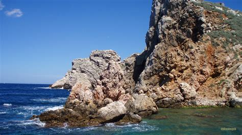 rocks in spanish spanish blue ocean and rocks barbaras hd wallpapers
