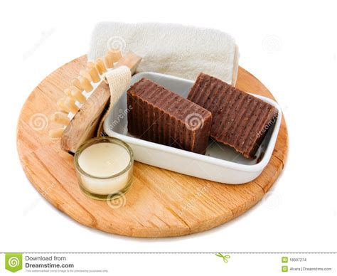 Handmade Naturals - handmade soap stock images image 18037274