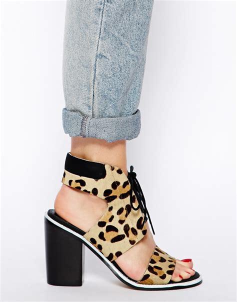leopard sandals heels senso iii beige leopard print heeled sandals in
