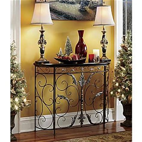 seventh avenue home decor festive scroll front console from seventh avenue 174 home