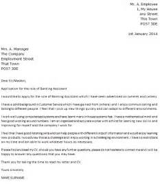 Application Letter For The Post Of Clerk In Bank Banking Assistant Cover Letter Example Icover Org Uk
