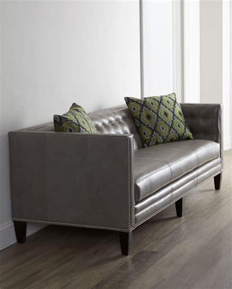 dove grey leather sofa massoud dove leather sofa