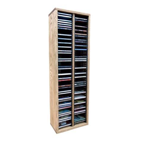 Solid Rack by Wood Shed Solid Oak Cd Rack 120 Cd Capacity Tws 209 3