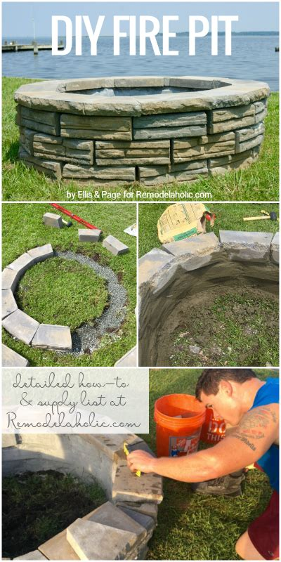 how to build a diy pit for only keeping it simple crafts cool garden ideas remodelaholic diy retaining wall block pit