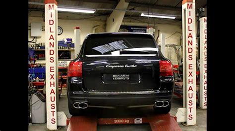 porsche before and after porsche cayenne turbo exhuast before and after