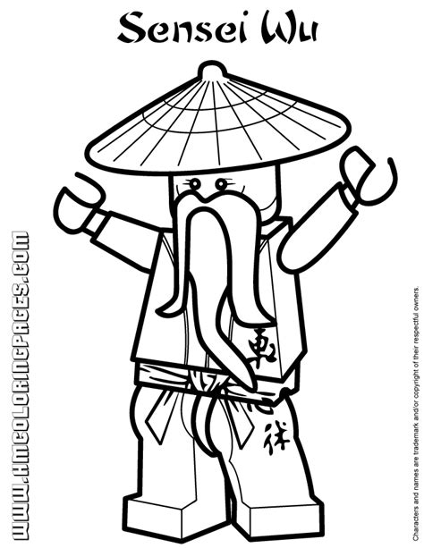 all ninjago coloring pages ninjago sensei wu coloring