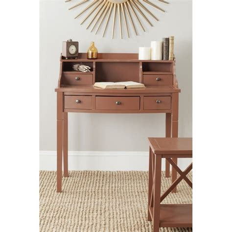 36 Writing Desk by Safavieh Landon 36 Quot Writing Desk In Henna Brown Amh6516g