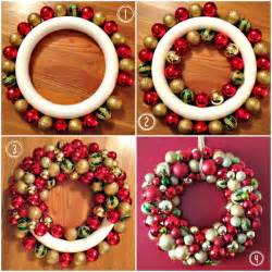 easy diy ornament wreath for christmas pictures photos