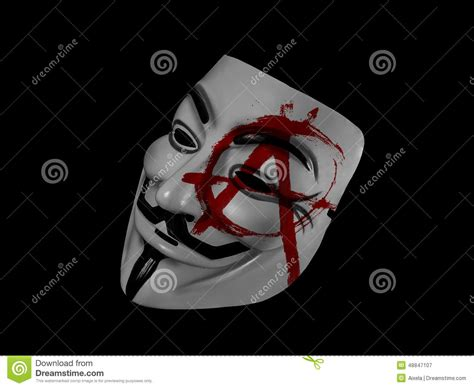 anonymous anarchy guy fawkes editorial photography image