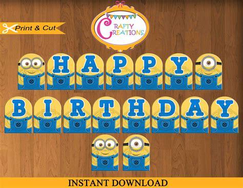 printable minion birthday decorations despicable me banner printable minions birthday party