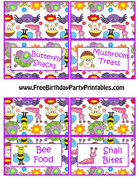 free printable butterfly birthday decorations bug butterfly birthday party printables