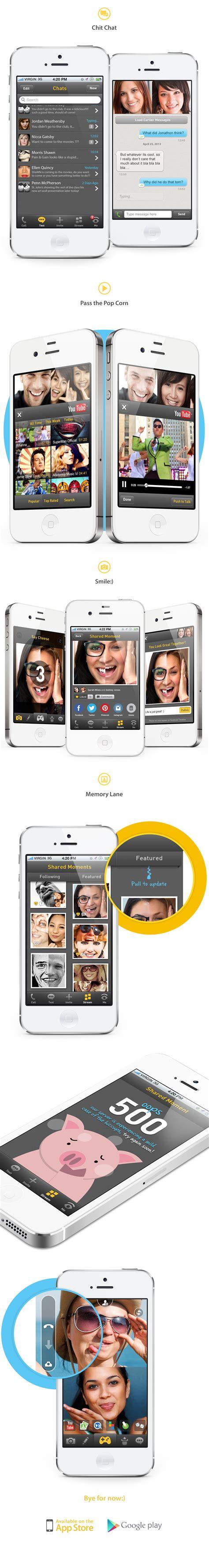mobile videochat mobile chat app on behance