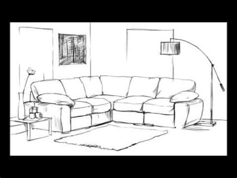 Living Room Drawing by How To Draw A Living Room