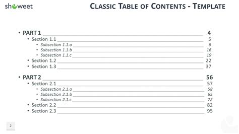 Table Of Contents Templates 50 Best Templates
