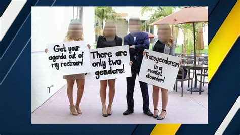 trans bathroom controversy controversy swirls at ucla anti transgender restroom signs abc7