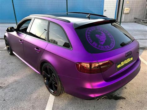 pink audi a4 audi a4 avant b8 tuning purple pink mattschwarz folierung