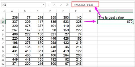 how to select the highest or lowest value in excel