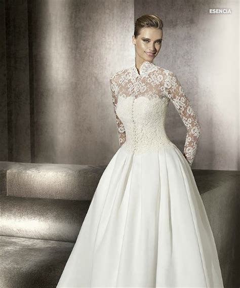 ball gown wedding dress with net long sleeves sang maestro