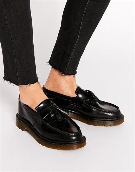dr marten loafer image 1 of dr martens adrian black leather tassel loafer
