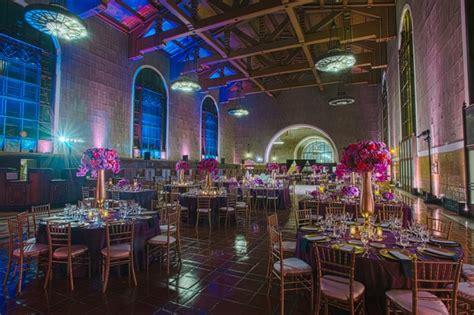 wedding receptions los angeles ca 2 vibrant purple blue celebration at union station in los