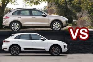 Porsche Macan Vs Cayenne 2015 Porsche Macan Vs Cayenne Html Autos Weblog