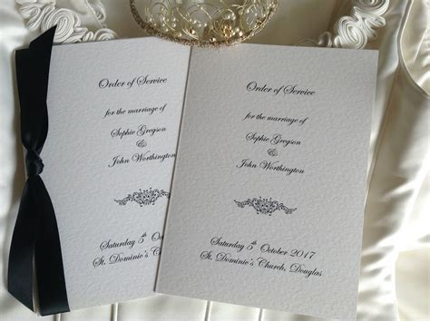 service books motif wedding order of service books wedding stationery