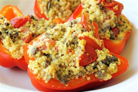 Detox Stuffed Peppers by Stuffed Peppers With Beef And Millet 187 The Candida Diet