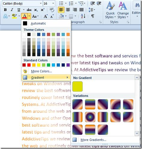 download pattern fill word 2007 word 2010 change font color with gradient fill