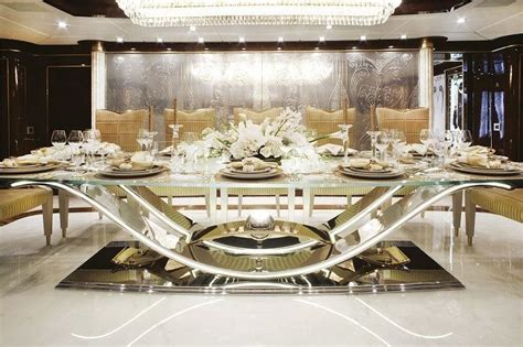 Modern Dinning Room Set Luxury Rectangle Glass Mirrored Dining Igf Usa Luxury Modern Formal Dining Room Sets Design With Glass
