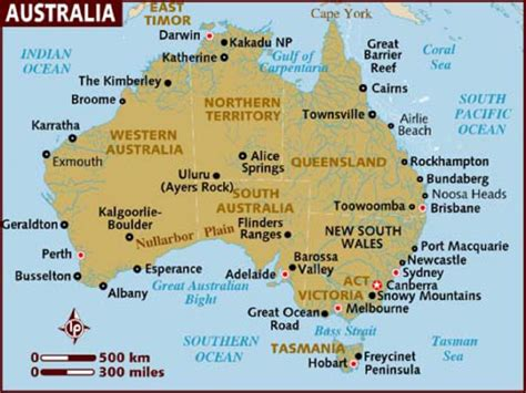 map of australia and cities australien 11