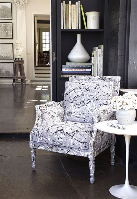 tozai home decor spatter paint chair inspired by jackson pollack for tozai