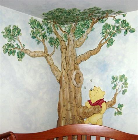 winnie the pooh a tree for 1405286636 winnie the pooh mural traditional kids raleigh by artrageous art com