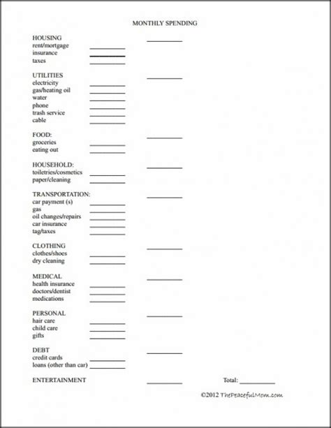 easy budget planner free printable worksheets free printable budget worksheet the peaceful mom